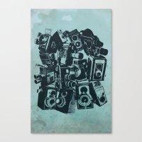 cameras Canvas Prints featuring Cameras by Bill Pyle