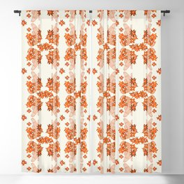 Alligator and Camellias Blackout Curtain