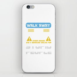 Walk Away This Able Seaman Has Anger Issues Merchant Ship Watchstander Sea Ocean Marine Gift iPhone Skin