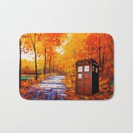 Tardis Autumn Art Painting Bath Mat