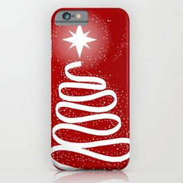 Red Scrible Christmas Tree iPhone Case