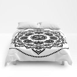 Black and White Mandala | Flower Mandhala Comforters