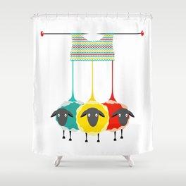 Knitting sheep Shower Curtain