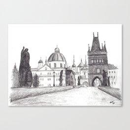 Charles Bridge in Prague, Czech Republic Canvas Print