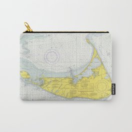 Vintage Map of Nantucket (1975) Carry-All Pouch