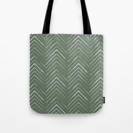 Olive Green Geometric Arrows Tote Bag