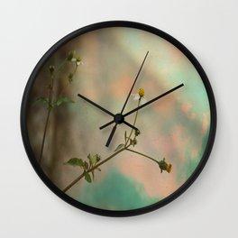 Simple Flowers Wall Clock