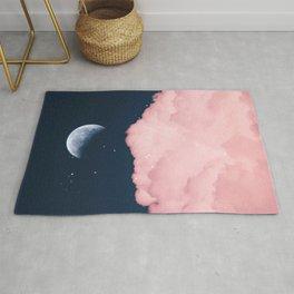 Falling moon Rug