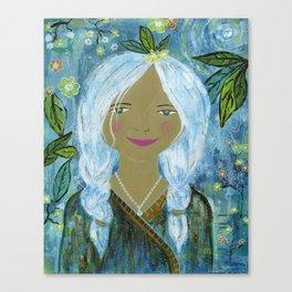 Gemma in the night garden Canvas Print
