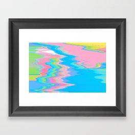 Neon Spill Abstract Framed Art Print