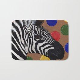 Zebra and Bubbles Bath Mat