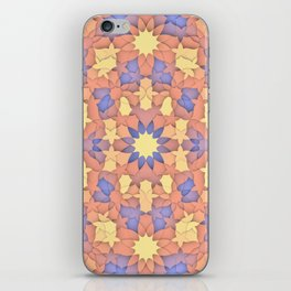 Arabesque 3D - Color: Sunset Hues iPhone Skin