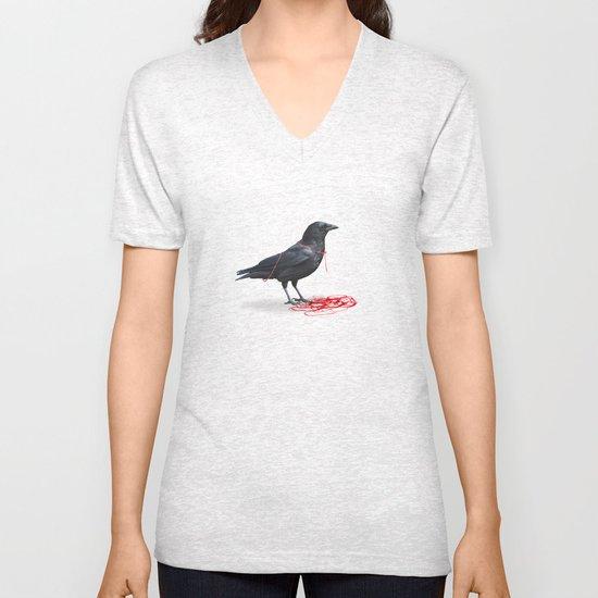 freedom  _ black crow Unisex V-Neck