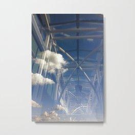 reflections in window Metal Print
