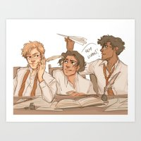 marauders Art Prints featuring Marauders by batcii