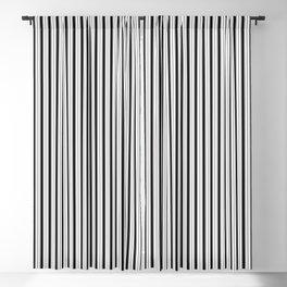 Black and White Princess Elizabeth Regal Stripe Blackout Curtain