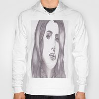 celebrity Hoodies featuring Celebrity Portrait by N. Rogers Fine Art