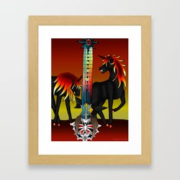 Fusion Keyblade Guitar #189 - Unicornis' Keyblade & Twilight Blaze Framed Art Print