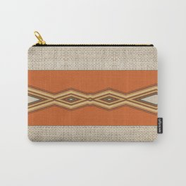 Southwestern Earth Tone Texture Design Carry-All Pouch