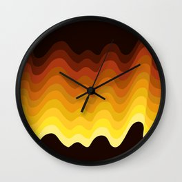 70s Ripple Wall Clock