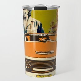 Retro Cuba design with car & Che Guevara Travel Mug