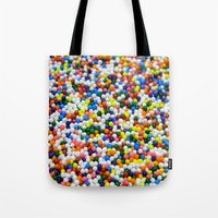 sprinkles Tote Bags featuring Sprinkles by Electric Avenue