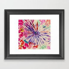 Flower Burst Framed Art Print