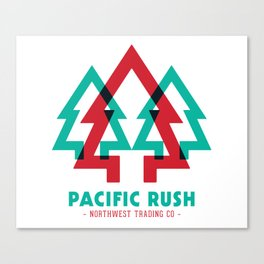 Pacific Rush Trees Canvas Print