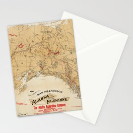 Map of Alaska 1898 Stationery Cards