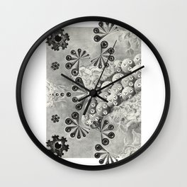 Octopus' Garden Fractal Design Wall Clock