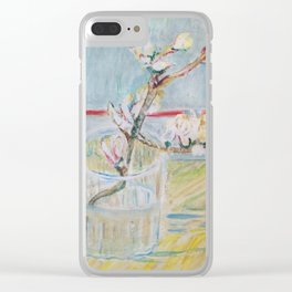 Almond blossoms in the glass Clear iPhone Case