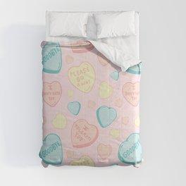 Introvert Conversation Hearts Comforters