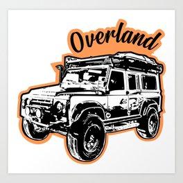 Overland Defender 1.0 Art Print