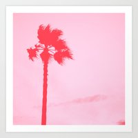 palm tree Art Prints featuring Palm tree by Aftertherain