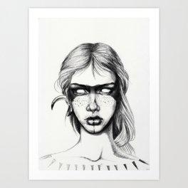 Nocturnal Warrior Sketch Art Print