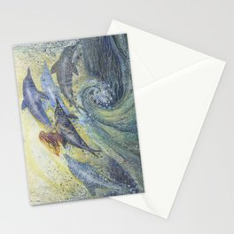 On dolphins Stationery Cards