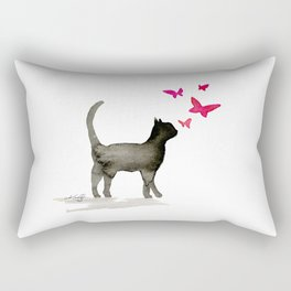 I Love Cats No. 3a by Kathy Morton Stanion Rectangular Pillow