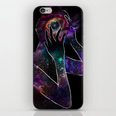 Girl with the Universe inside of her. iPhone & iPod Skin