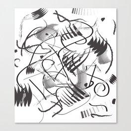 Black and White art work Canvas Print
