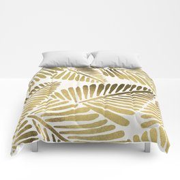 Tropical Banana Leaves – Gold Palette Comforters