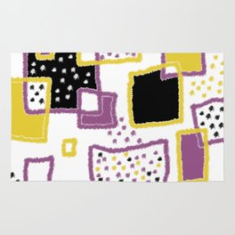 fuzzy rectangles Rug
