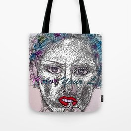 A Colorful Face of An Woman Tote Bag