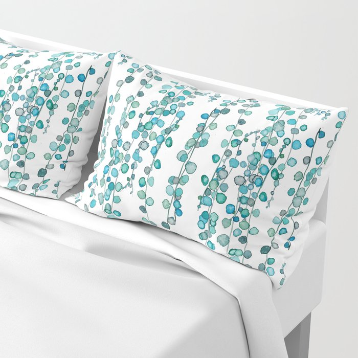 string of pearl watercolor Pillow Sham