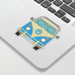 Mid Century Modern Micro Bus by Art of Scooter Sticker