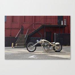SALT FLATS HARLEY CHOPPER Canvas Print