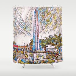 obelisk park Shower Curtain