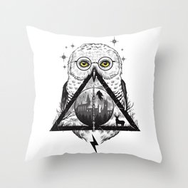 Owls and Wizardry Throw Pillow