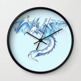 Ice Wyvern Wall Clock