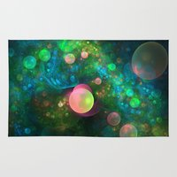 psychadelic Area & Throw Rugs featuring Inner Space by Lyle Hatch