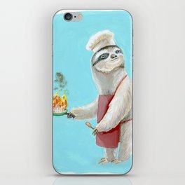 Sloths Are Bad At Things- Henri the Chef! iPhone Skin